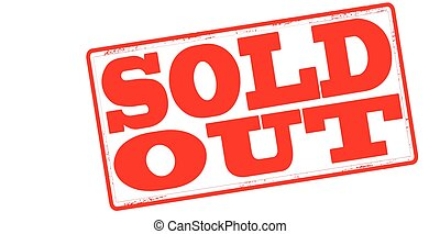 Sold out - Stamp with text sold out inside, vector...