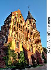 Koenigsberg Cathedral at sunset. Kaliningrad (former...