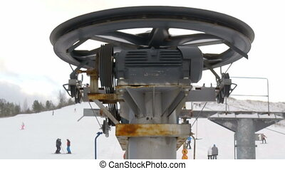 The rollers of the ski resort ski lift - The Finland...