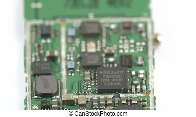 Closer look of the micro chip with some micro boards and...