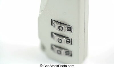 A suitcase lock with 109 numbers as a combination This...