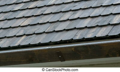 The wooden shingle roof of the house - The ecoroof wooden...