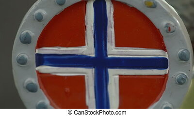 A drawing of a Norway flag