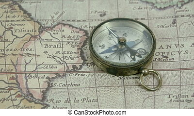 Zoom out view of the compass and the map Showing the large...