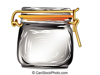canning jar isolated on a white background