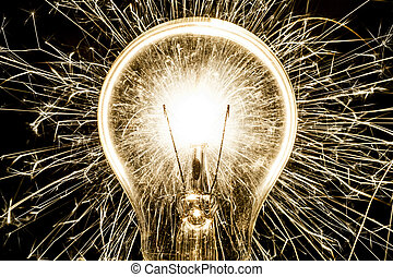 Electric sparklers in bulb idea - Electric sparklers bulb...