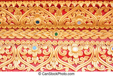 Traditional Thai style stucco texture