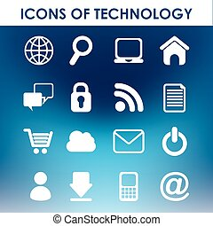 icons of technology design, vector illustration eps10...