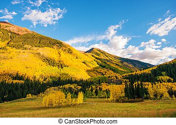 Colorful Colorado Lands. Fall in the Rocky Mountains....