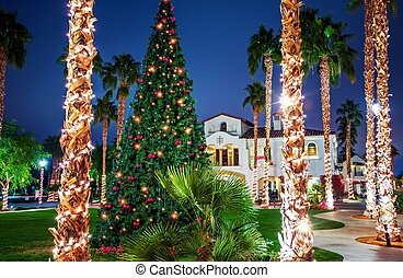 Downtown Christmas Tree - Holidays in California. Old Town...