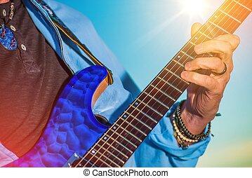 Rock Guitar Player