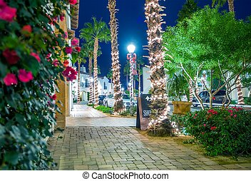 Holiday Season in La Quinta Old Downtown. La Quinta,...