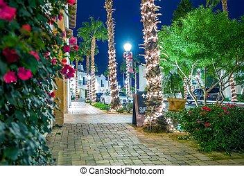 Holiday Season in La Quinta Old Downtown. La Quinta,...