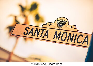 Santa Monica Street in the Beverly Hills, California, United...
