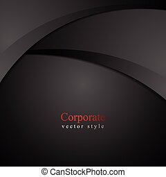 Abstract dark waves background Vector design