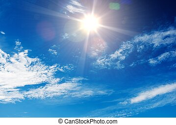Sunny Blue Sky Background