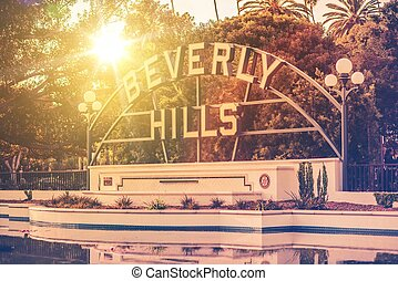 Welcome in Beverly Hills, California City Park and the...