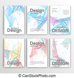 Set of Flyer, Brochure Design Templates Geometric Triangular...