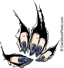 Nail Art like stained-glass window