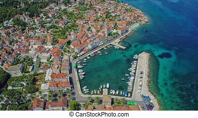 Sutivan on Brac Island, aerial shot - Aaerial view of the...