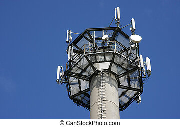 cellular phone network mast - a cellular phone network mast...