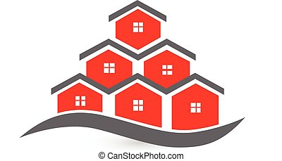 Real estate houses logo - Real estate business card-Houses...