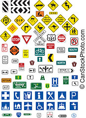 Traffic signs - This image is a vector illustration and can...