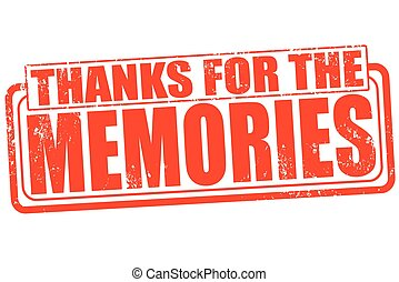 thanks for the memories - Grunge stamp with text Thanks for...