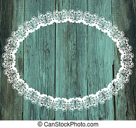 lace white frame wood old Valentines Day vintage background