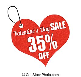 Valentines sale 35 percent off labe - Valentines sale 35...