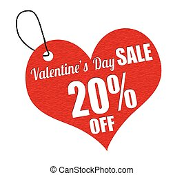 Valentines sale 20 percent off labe - Valentines sale 20...
