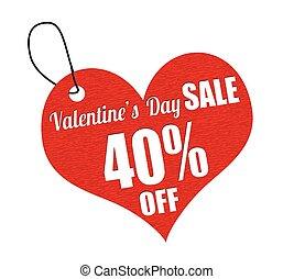 Valentines sale 40 percent off labe - Valentines sale 40...