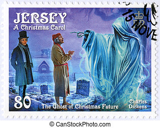 JERSEY - 2012: shows illustrations from A Christmas Carol,...