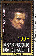 DJIBOUTI - 2009: shows Hector Berlioz 1803-1869, composer -...