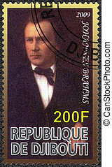 DJIBOUTI - 2009: shows Johannes Brahms (1833-1897), composer...