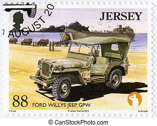 JERSEY - 2013: shows Ford Willys Jeep GPW, series Military...