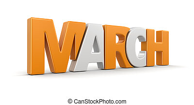 March (clipping path included) - March. Image with clipping...