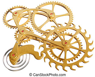 Gears and cogs - Isolated illustration of precision cogs and...