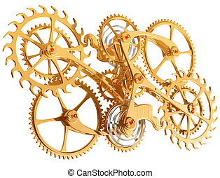 Cogs and gears - Isolated illustration of precision cogs and...