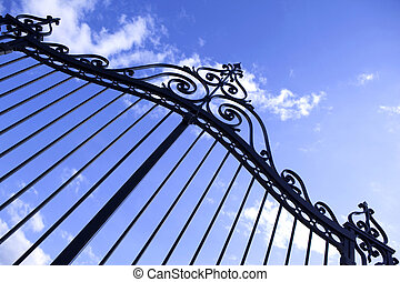 Gate - Wrought iron gate of a residence