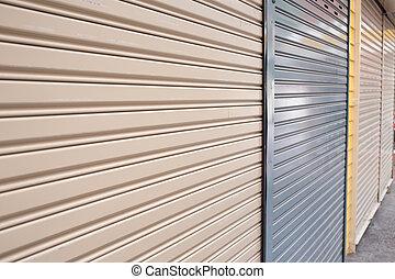 roller shutter door of front gate store