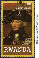 2009:, (1758-1805), horatio, -, Ruanda, Nelson, Retrato,...