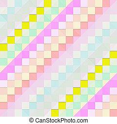 pastel diagonal blocks pattern