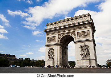 Arch of Triumph Day time - Arch of Triumph on the Charles De...