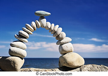 Arc in the Sky - Pebbles are formed as an curve of the arc...