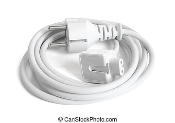 AC Power Cable Cord on white background