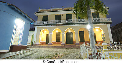 Colonial houses - Typical houses in the colonial city of...