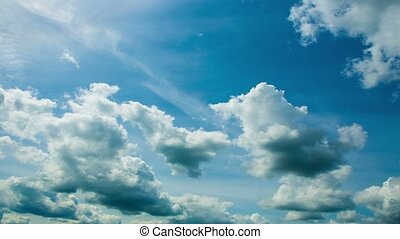 Beautiful Clouds in Time-lapse. Day