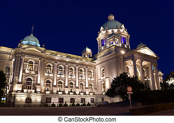 Parliament of Serbia former Parliament of Yugoslavia palace,...