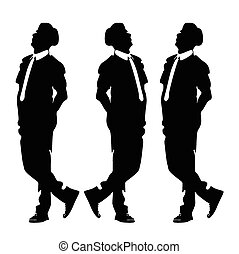 man with tie posing vector